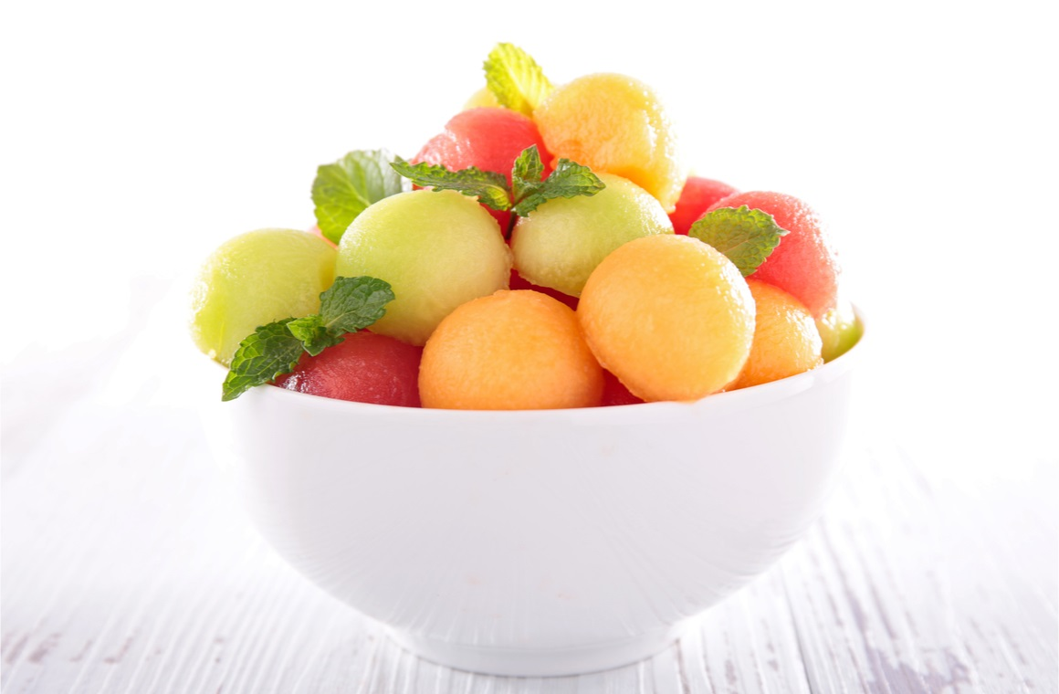 fruit salad in a bowl