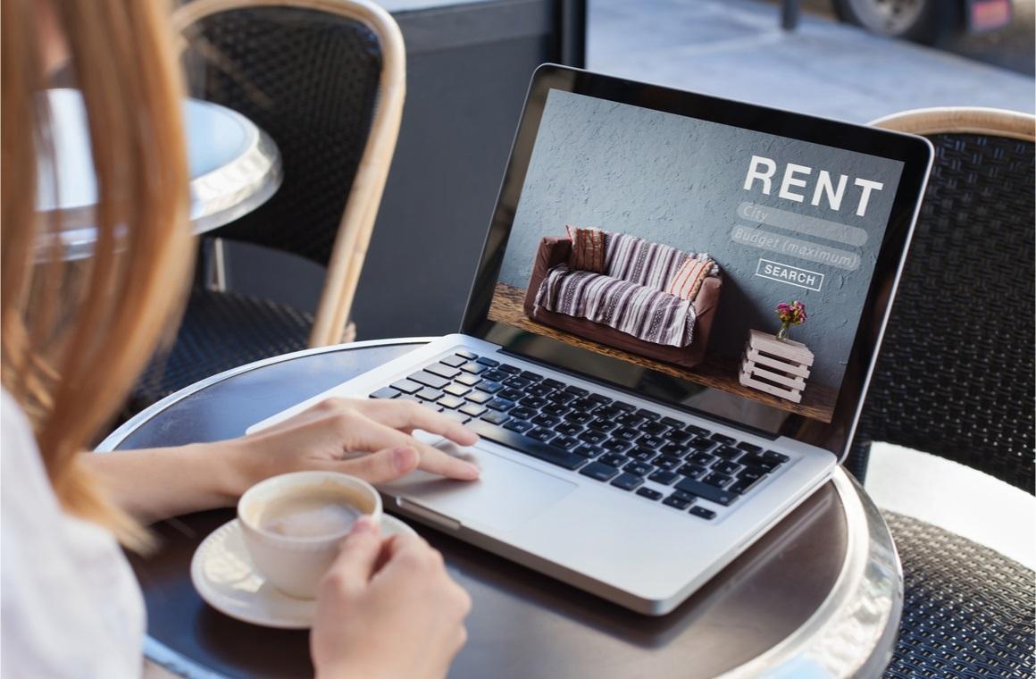 rent online concept