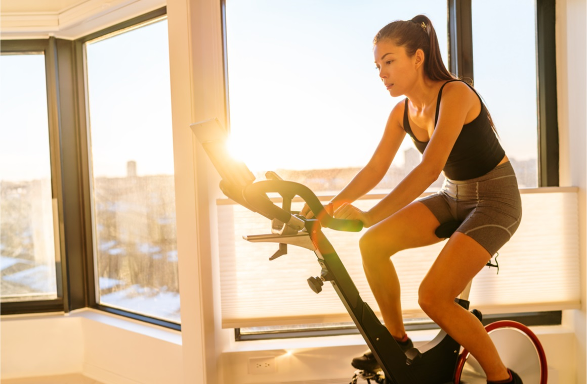 home fitness workout woman training