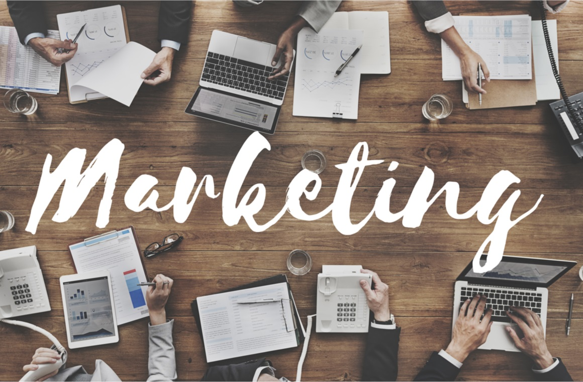 marketing advertising business concept