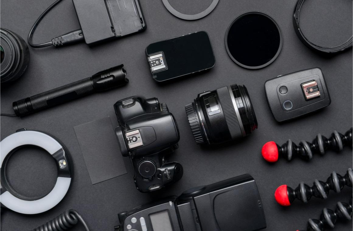 modern photographer equipment