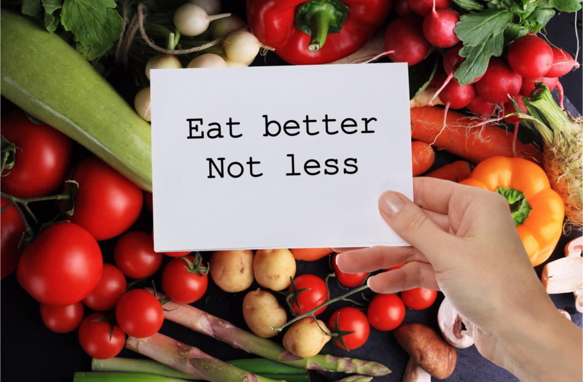 inspirational quote eat better