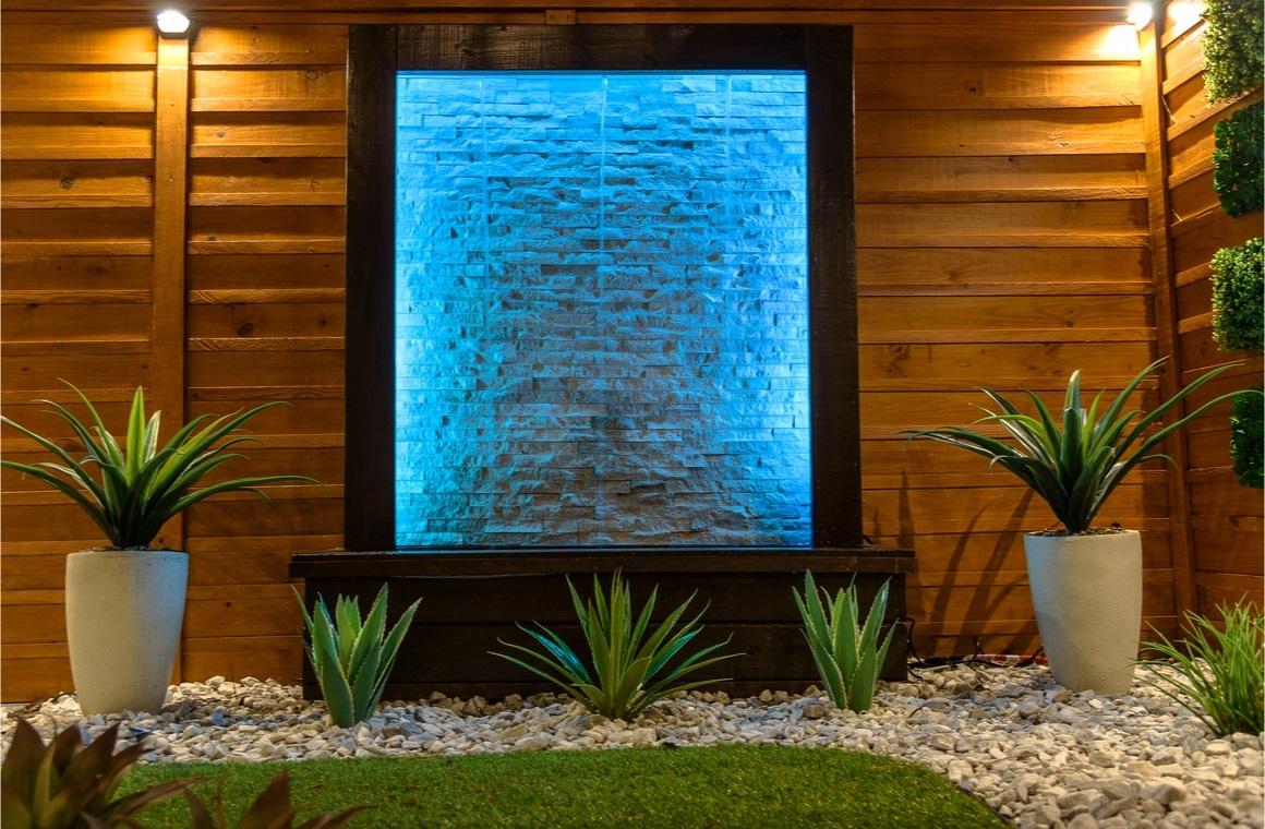 night scene landscape design concept for small spaces