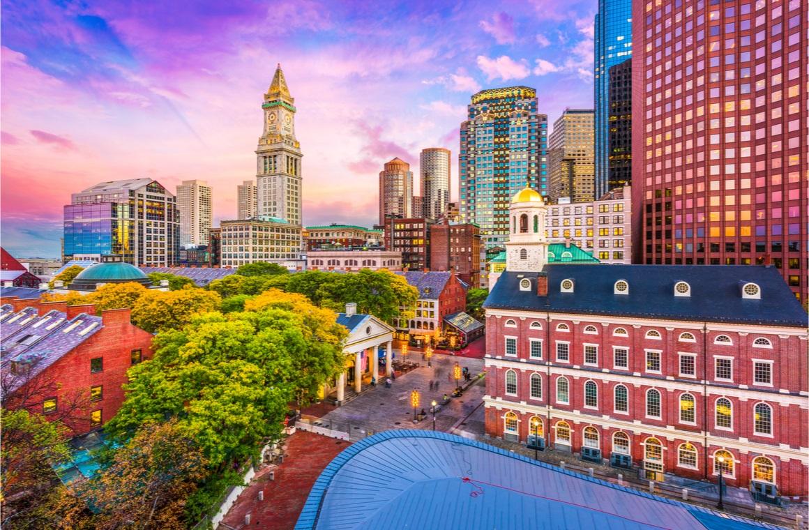 boston massachusetts usa historic skyline