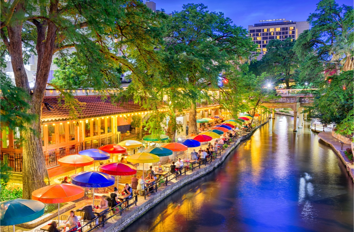 san antonio texas river walk view
