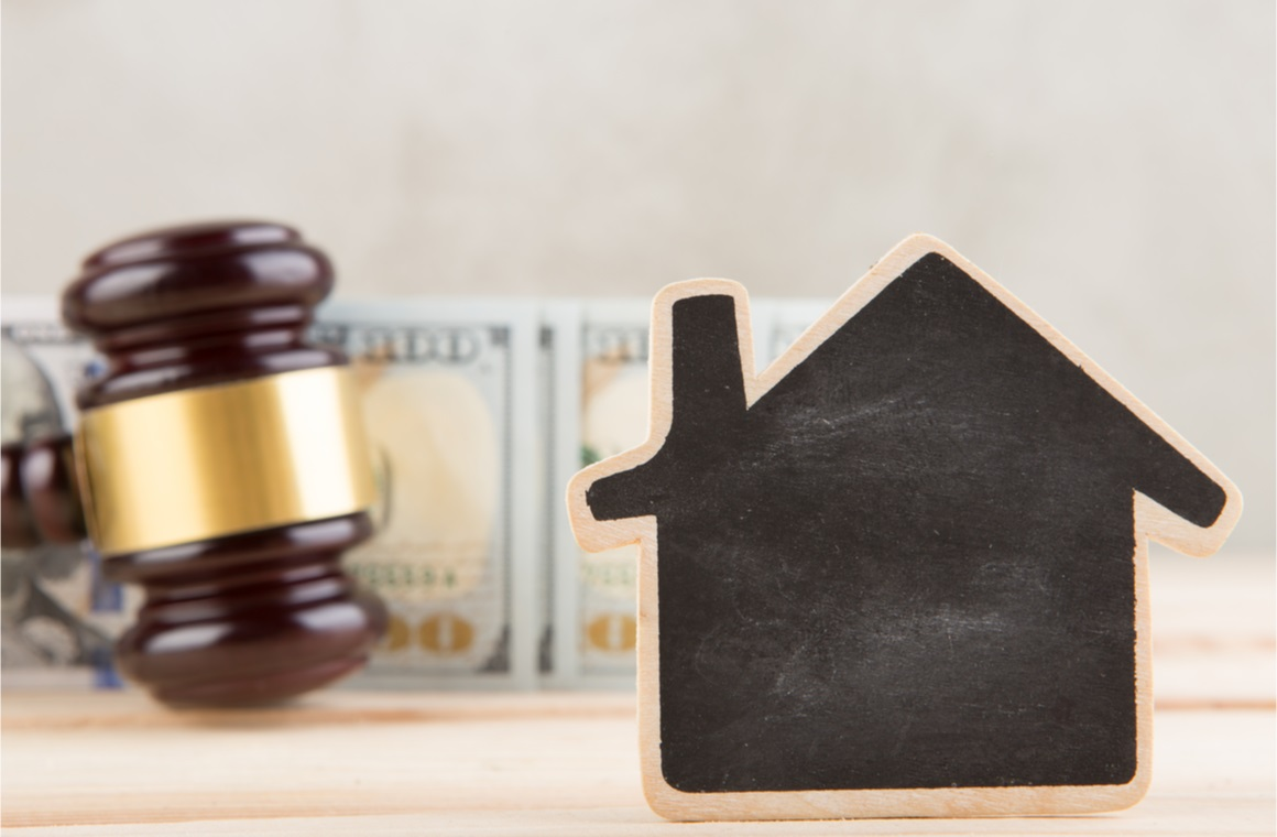 real estate concept auction gavel
