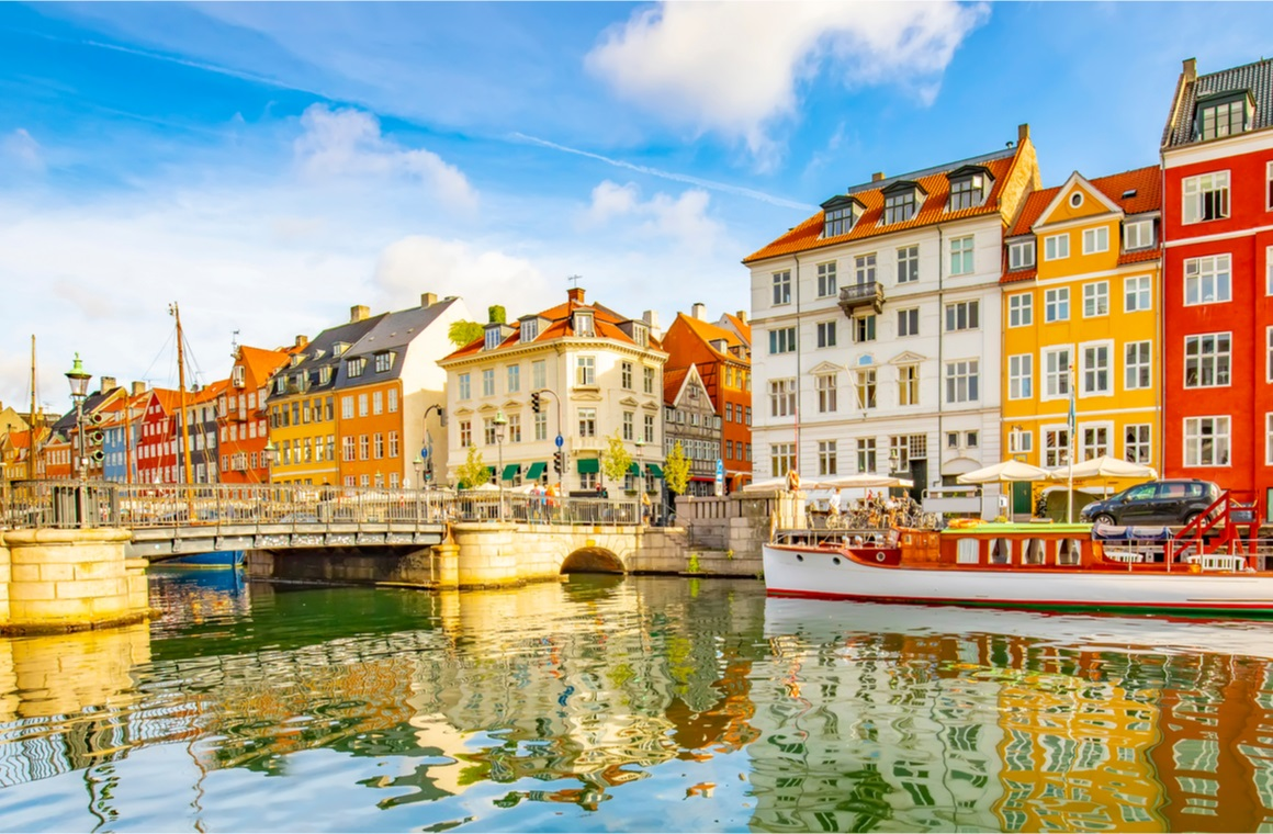copenhagen old town panorama tourists attraction