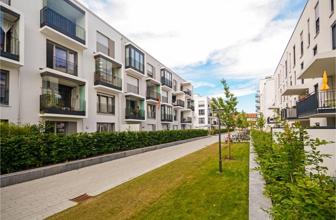 modern residential buildings outdoor facilities