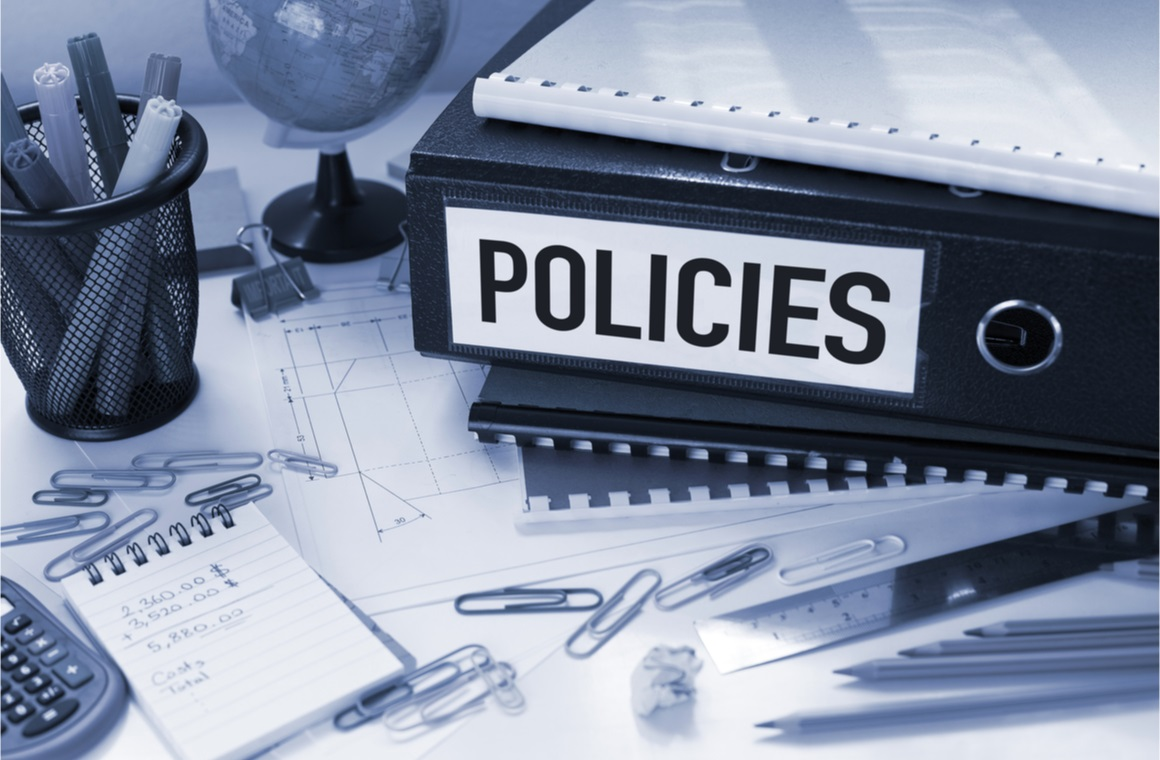 policies business concept with file