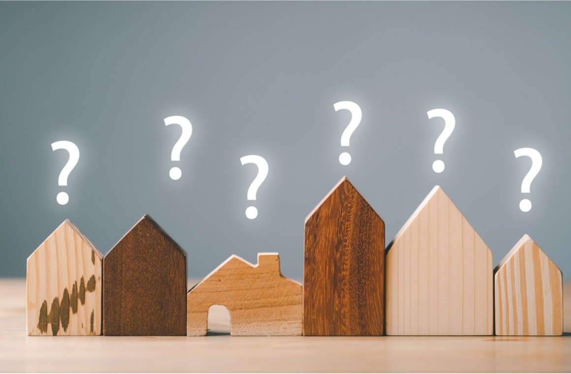 small house model question marks planning