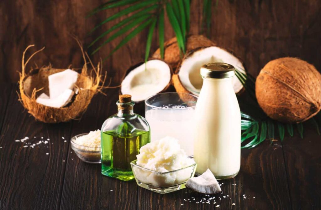 Coconut products mtc butter oil milk