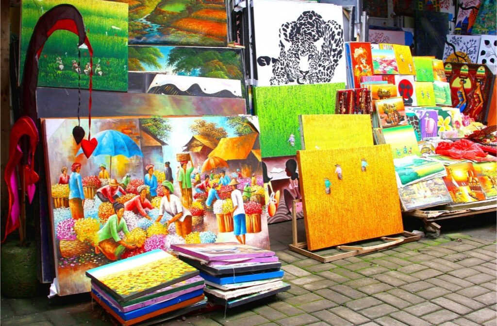colorful paintings from unknown locals