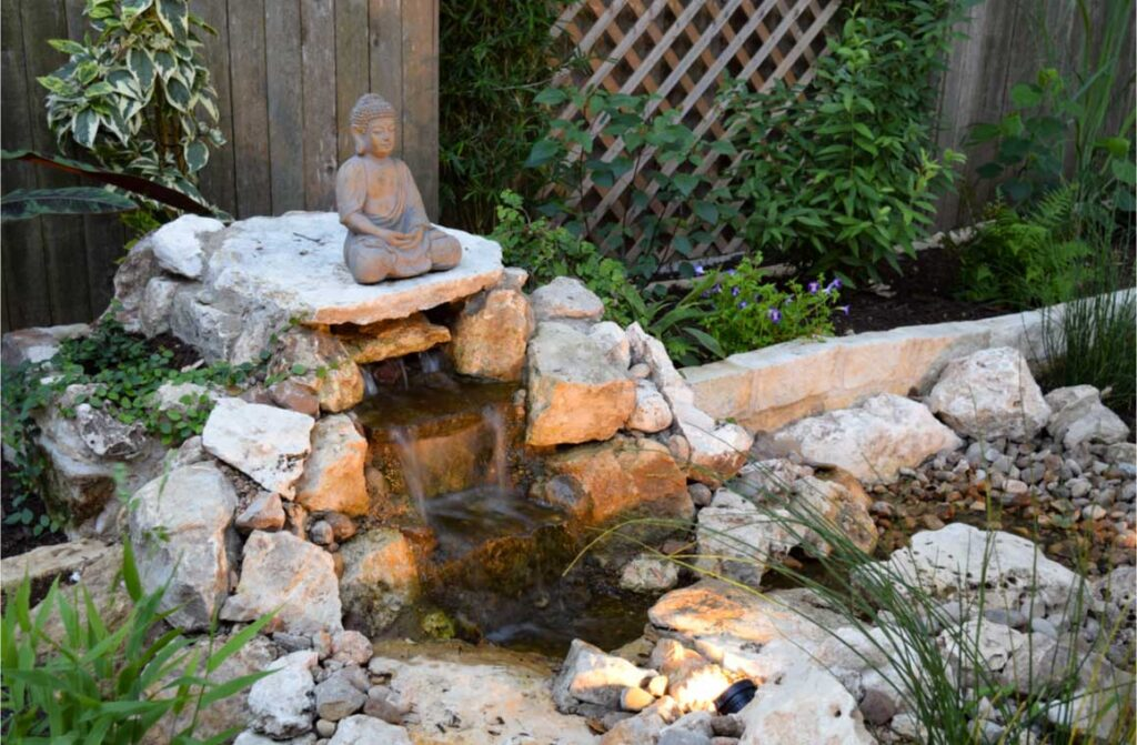 Do it yourself zen garden waterfall