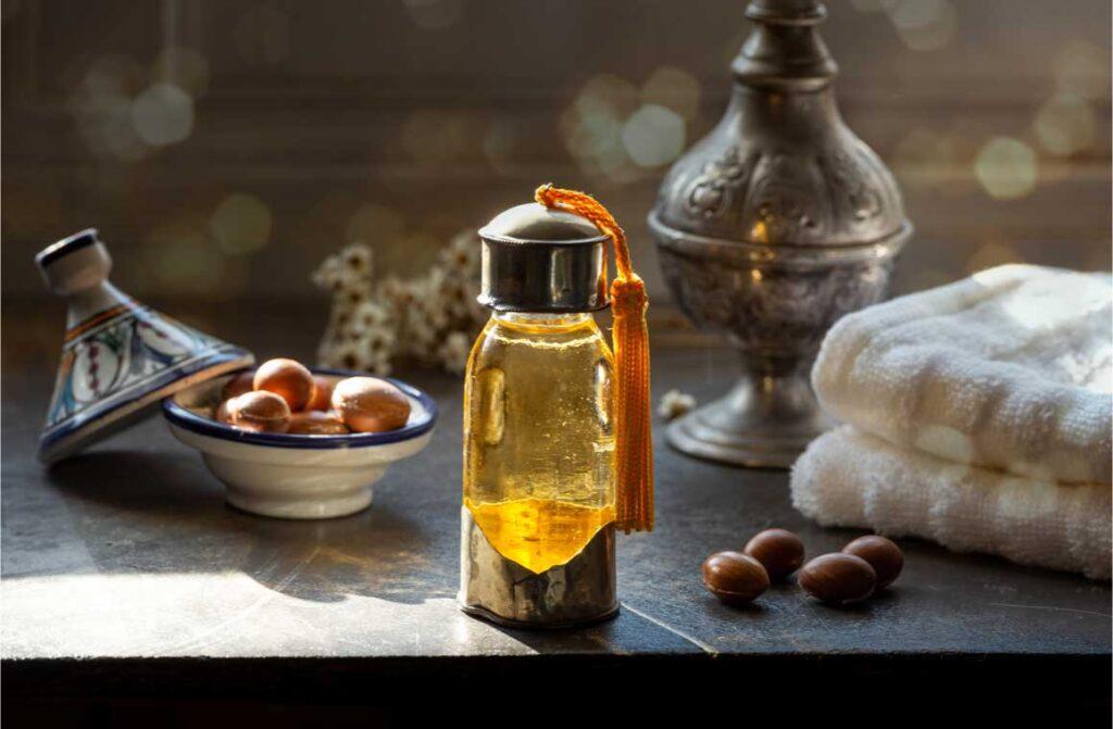 Glass bottle argan oil