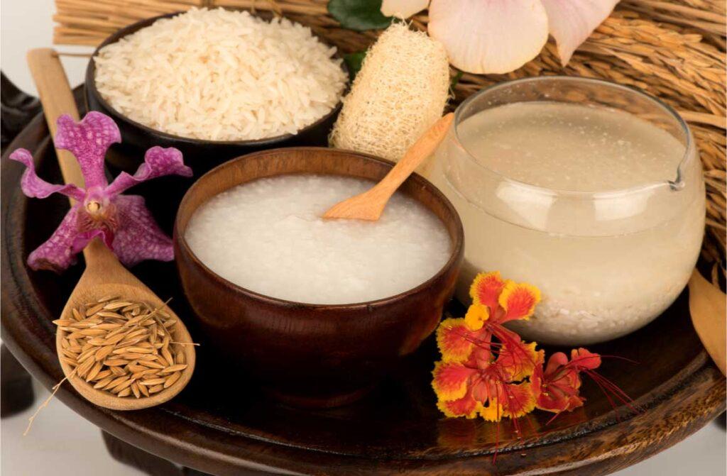Water from washing jasmine rice