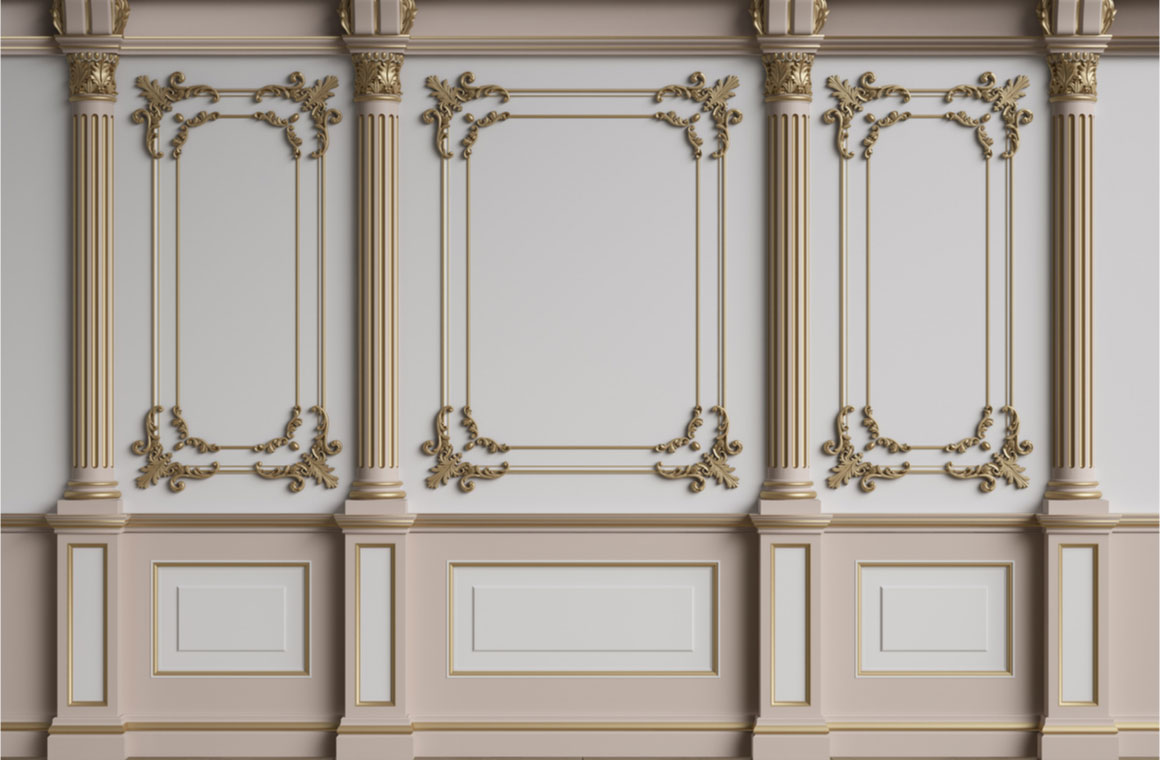 classic interior wall mouldings parquet